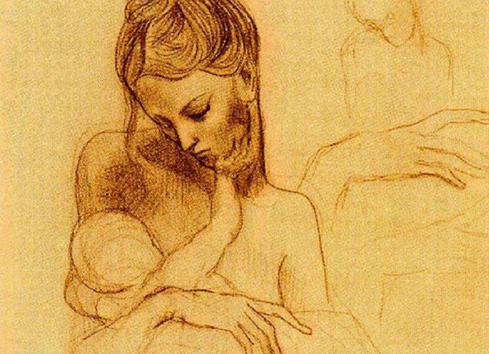 picasso-maternità-disegno-min