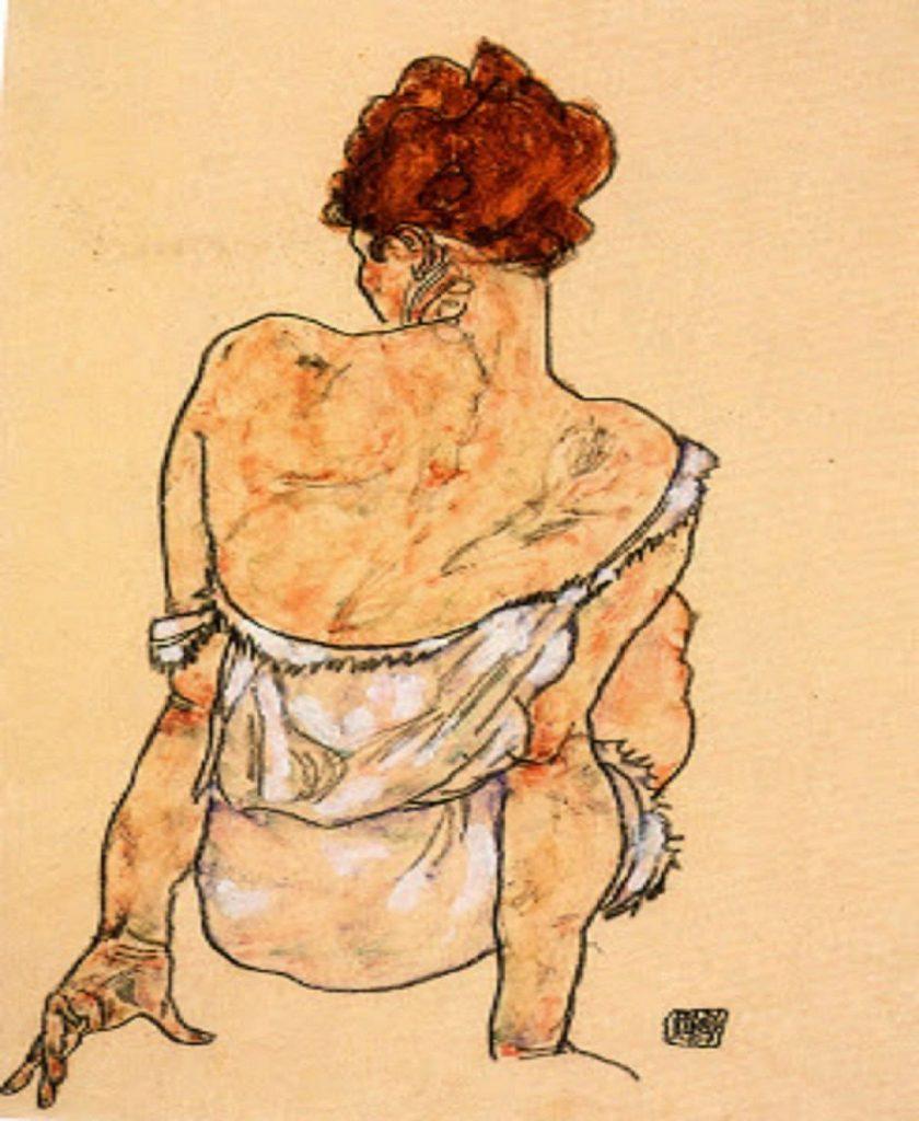 egon-schiele-donna-di-spalle