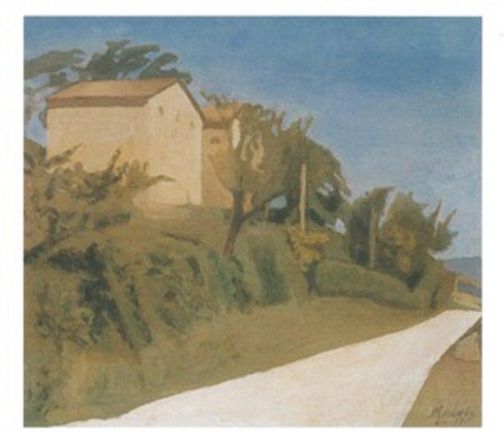 Giorgio-Morandi-La-Strada-Bianca-Paesaggio